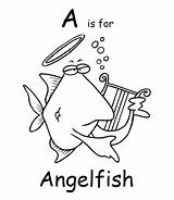 Coloring Angelfish Pages Printable Colouring Cartoon Fish Ch Print Animals Animal Town Sheet Getcoloringpages Clip sketch template