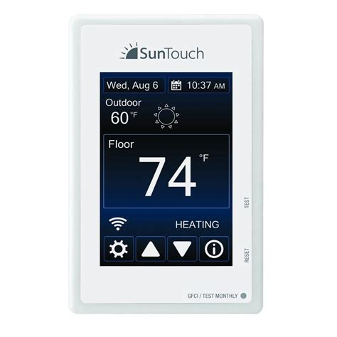 suntouch floor warming sunstat connect wi fi programmable floor heating thermostat 500875 sc