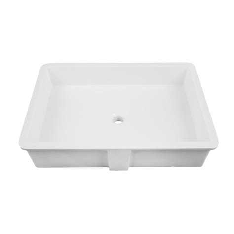 Decolav Undermount Bathroom Sinks by Decolav 16 Quot X 24 Quot Undermount Bathroom Sink White 1839 24