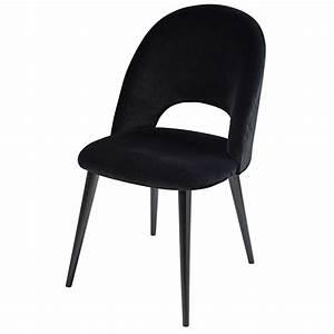 Chaise Velours Noir : chaise en velours noir et bouleau iris maisons du monde ~ Teatrodelosmanantiales.com Idées de Décoration