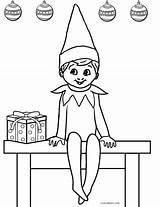 Elf Coloring Shelf Printable Elves Norman Andrew Sheets Printables sketch template