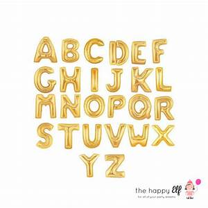 16 gold custom balloon banner custom letters gold With gold banner letters