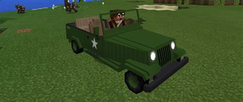 minecraft army jeep jeeps addon minecraft pe mods addons