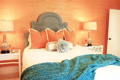 salmon color bedroom interior color combinations for the modern home 13114