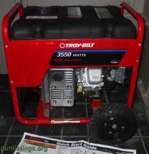 Generator Troy Bilt 5250 / 3550 Watt Portable WTT in