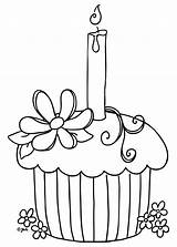 Coloring Pages Dessert Printable Colouring Cake Cupcake Blank Birthday Colour Cup Pretty Printables Cupcakes Outline Doodle Draw sketch template