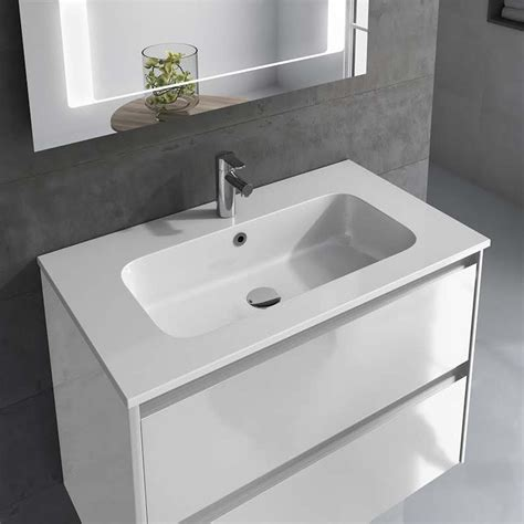 Complete Bathroom Vanities by Ws Bath Collections Ambra 80 Pack 2 Gloss White Complete