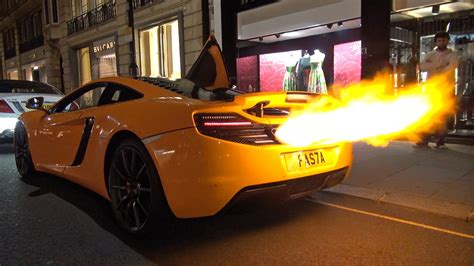 McLaren 12C Shooting HUGE FLAMES + MELTED BUMPER!! - YouTube