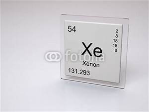 Xenon - symbol Xe - chemical element of the periodic table ...
