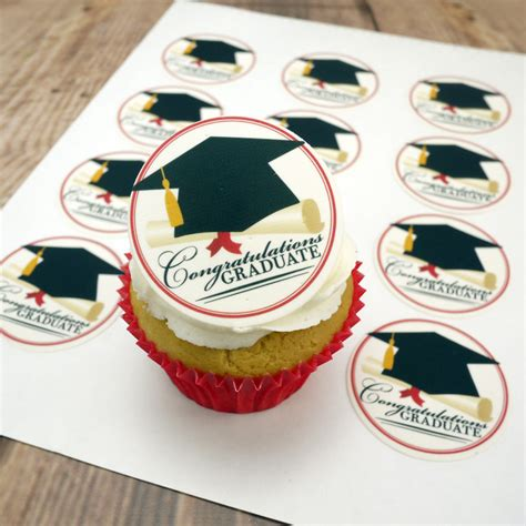 edible print mortarboard  scroll graduation cake topper