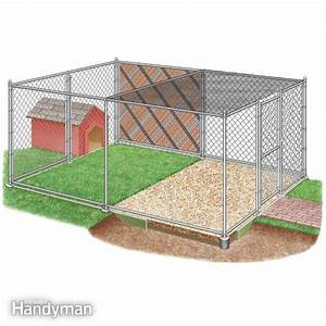 how to build a chain link kennel for your dog the family With building an outdoor dog kennel