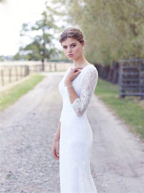 lace wedding dresses vintage bridal gowns leah  designs