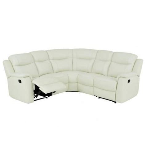 canape relax angle canapé d 39 angle relax cuir evasion blanc achat vente