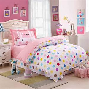 kids colorful polka dot cute comforter bedding sets twin With cute twin bedspreads