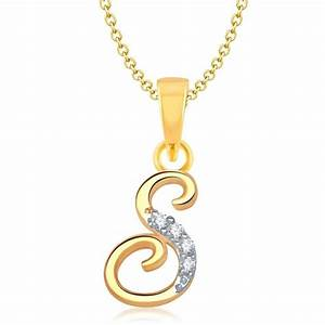initial letter s alphabet gold plated unisex pendant With s letter gold pendant