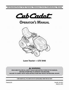 Cub Cadet Ltx 1040 Diagram