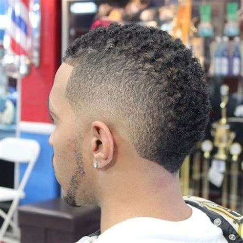 mohawk styles for curly hair black men haircuts