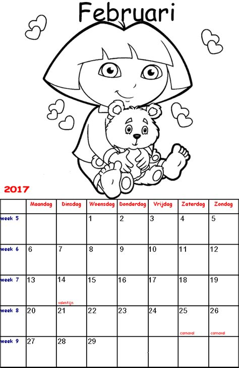 Kleurplaat Sinterklaas Kalender by Kleurplaten Voor Kinderen Kalender 2017