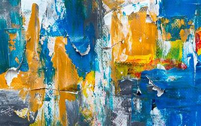 Brush Abstract Strokes Paint Canvas Colorful Modern