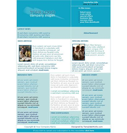 Newsletter Templates Free by Free Website Templates Free Logo Templates Free