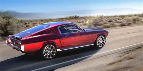 Mustang Electric Car by 1967 Mustang Meets Tesla Aviar Motors All Electric
