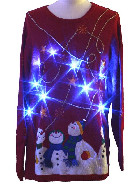 light up ugly christmas sweater holiday editions unisex