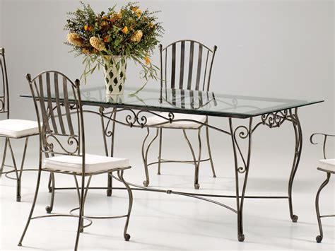 table verre fer forg 233 rectangulaire de salle 224 manger verone table de salle 224 manger salle