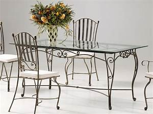 salle a manger en fer forge verone salle a manger en fer With meuble salle À manger avec chaise fer forgà
