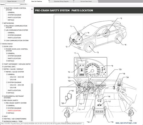 car repair manuals online free 2012 lexus ct lane departure warning lexus rx450h gyl10 gyl15 repair manual 2012 015 download