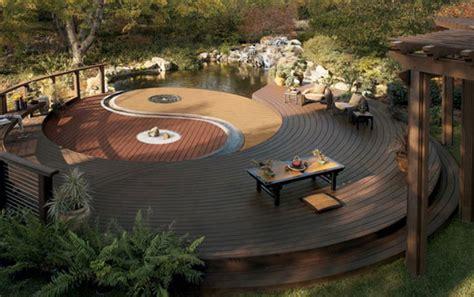 Wood Deck Design Backyard