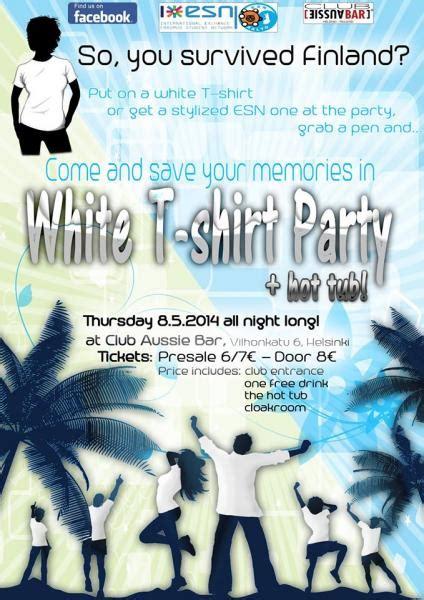 esn aalto white t shirt party hot tub esn aalto