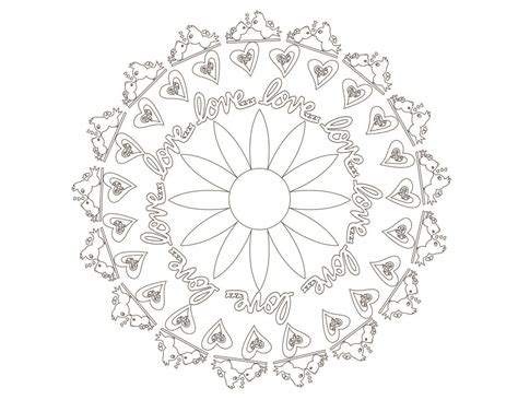 Mandala Art Inspired Valentine's Day Coloring Pages ⋆ By Pink