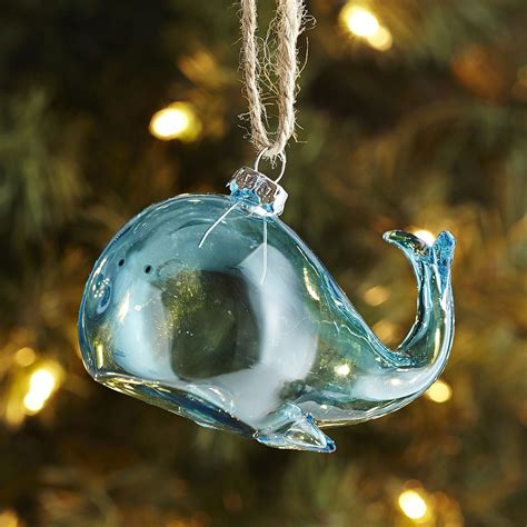 Pier One Ornaments by Whale Glass Ornament Pier 1 Imports Christmassy