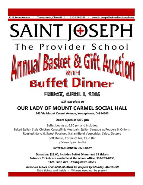 chinese auction st joseph  provider school