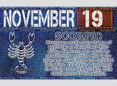 November 19 Zodiac Birthday Horoscope Personality