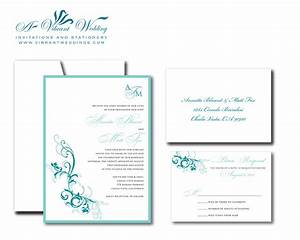 excellent turquoise wedding invitations theruntimecom With free wedding invitation templates turquoise