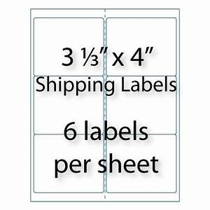 shipping labels 3 1 3quot x 4 quot 10 up averyr 5164 With 3 1 3 x 4 shipping label template