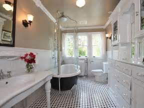 clawfoot tub bathroom designs traditional bathroom with wainscoting crown molding