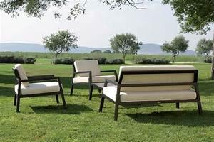 Salon De Jardin Aluminium : salon de jardin en aluminium modena ~ Teatrodelosmanantiales.com Idées de Décoration