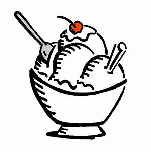 Black And White Cartoon Bowl Of Ice Cream Pictures to Pin ...