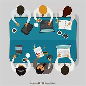 Teamwork on business meeting Vector | Free Download