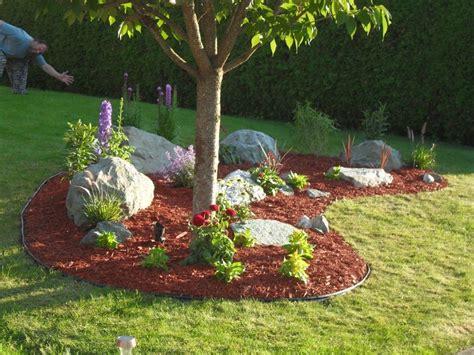 easy diy landscaping build  rock garden parkstrip