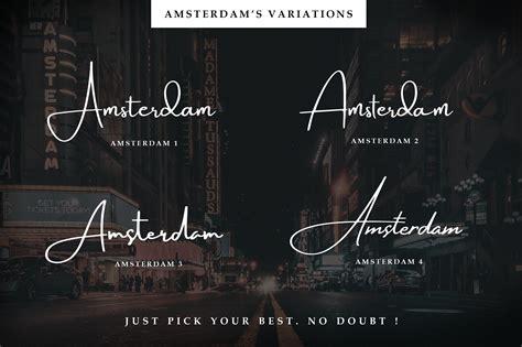 amsterdam signature font befontscom