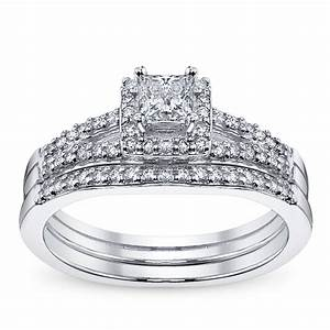 cherish 14k white gold diamond wedding set 3 8 ct tw With robbins brothers wedding ring sets