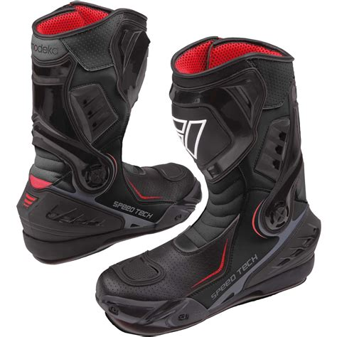 sport motorcycle shoes modeka speed tech men sport motorcycle boots leather