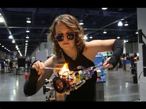 glass blowing  champs trade show youtube