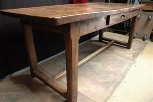 Table Ancienne De Ferme : ancienne table de ferme en orme xixeme ~ Teatrodelosmanantiales.com Idées de Décoration