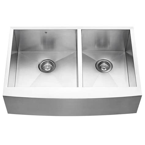 Home Depot Canada Farmhouse Sink by Vigo Stainless Steel Farmhouse 16 Bowl