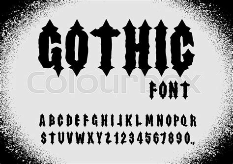 Gothic Font. Ancient Font. Gothic Letters. Vintage