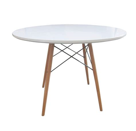 white wood round dining table bentley home retro wooden white round dining table